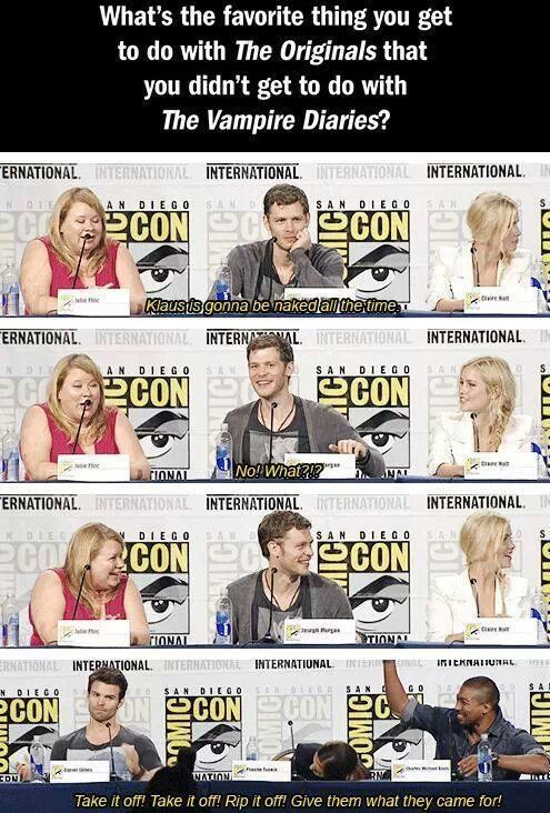 The originals ~ joseph morgan, julie plec, claire holt, daniel gillies, phoebe tonkin and charles michaelvdavis