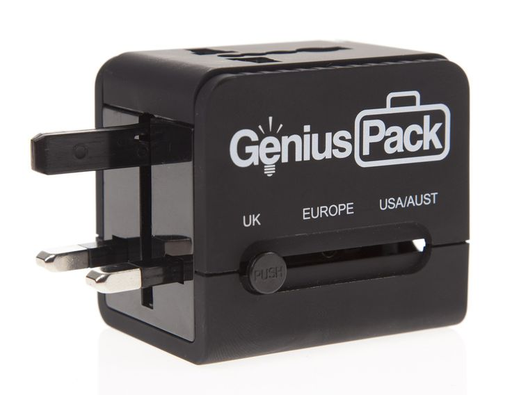 Travel Adaptor compatible with 150 countries.