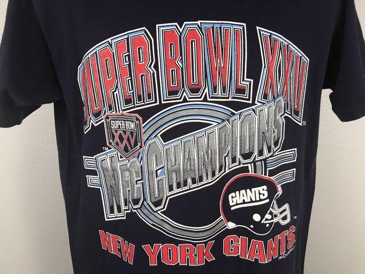 Jerzees New York Giants 1990 Super Bowl XXV 1990 NFL Football Vintage T Shirt L #JERZEES #NewYorkGiants