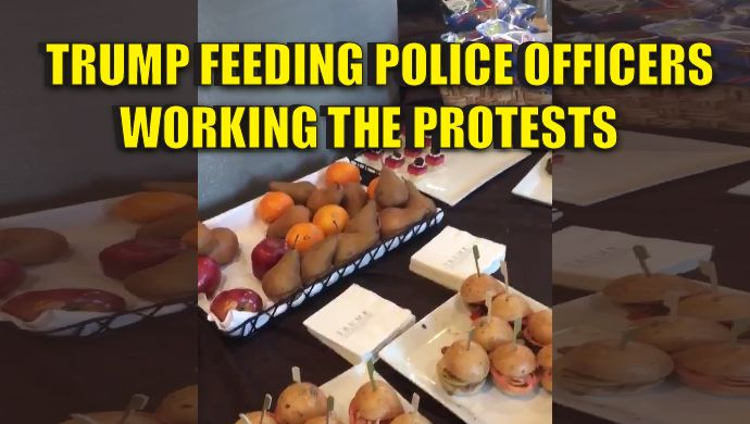 Donald Trump is a great man. He will be an even greater president! Tonight, as butt-hurt liberals and violent anti-American domestic terrorists flood the streets and protest against DEMOCRACY, Donald Trump is supplying police officers in Chicago with dinner. Not working #Chicago #Trumpprotest tonight but friends telling me @TrumpTower providing place to eat for officers working. Pretty #Standup — Darren (@ChiTownCheese) November 12, 2016 President-elect Donald Trump us already standing by…