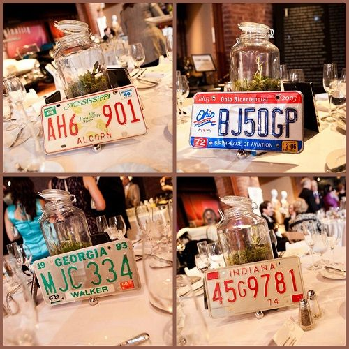 The Larz Anderson Auto Museum was a wonderful #weddingvenue for #firesidecatering - cool license plates make a great #specialtouch for your #wedding!