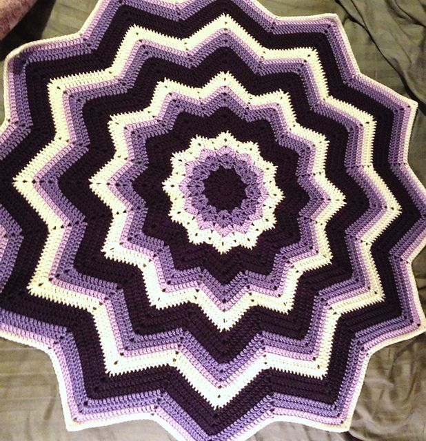 Free Star Ripple Afghan Crochet Pattern Traitoro For
