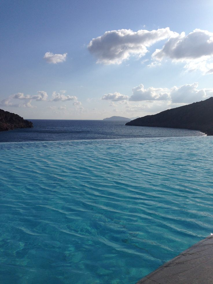 The infinity pool at Daios Cove Luxury Resort, Greece, ultimate blue, Crete, amazing, summer feeling, inspiration, take me there
