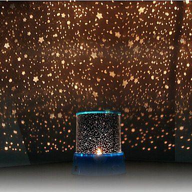 Lsjw projecteur de ciel toil color lumi re de nuit led couleur al atoire aliment par 3 - Ciel etoile led ...