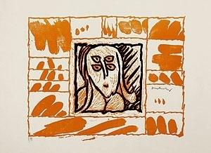 Pierre Alechinsky - Lino Litho, Planche III, 1970