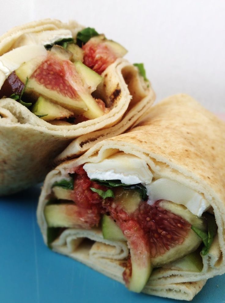 Fig & Goat Cheese Wraps. Basil, goat cheese and figs- so easy and so ...