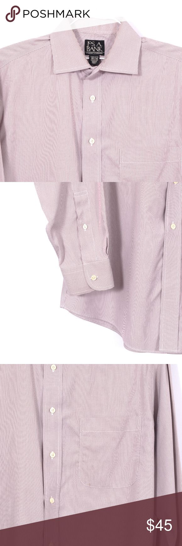 Jos. A. Bank Shirt Size 15 1/2 33 00290 (With images
