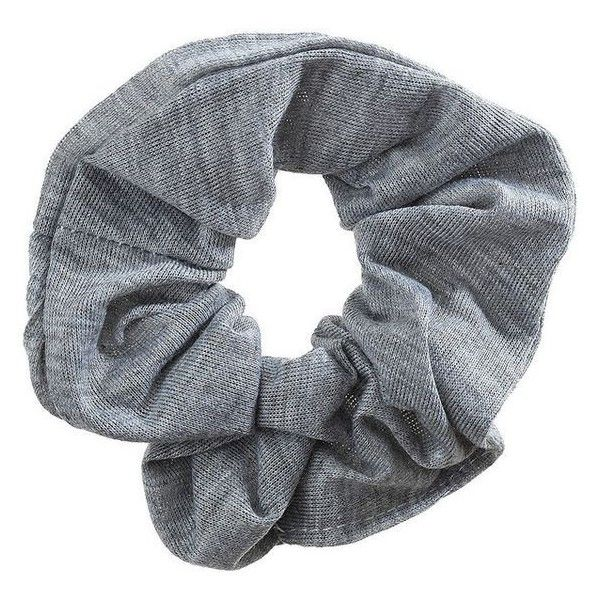 TOPSHOP Grey Hair Scrunchie ❤ liked on Polyvore featuring accessories, hair accessories and scrunchie hair accessories