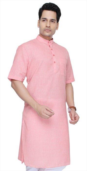 501536, Modi Kurta, Blended Cotton, Thread, Pink and Majenta Color Family