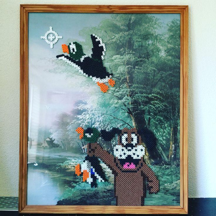 Duck Hunt perler art • Creatief Doen •