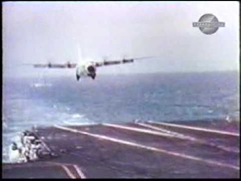 Video--check it out!  The C-130 Hercules holds the record for the largest and heaviest aircraft to land on an aircraft carrier. In October and November 1963, a USMC KC-130F (BuNo 149798), bailed to the US Naval Air Test Center, made 21 unarrested landings and take-offs on the USS Forrestal at a number of different weights. The pilot, LT (later RADM) James Flatley III...