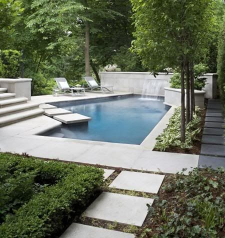 .: Swimming Pools, Modern Backyard, Pools House, Outdoor, Step Stones, Photo Galleries, Backyard Pools, Pools Design, Modern Pools