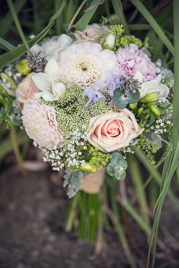 Rustic Country Homemade Wedding Dahlia Rose Peony Bouquet http://martamayphotography.co.uk/