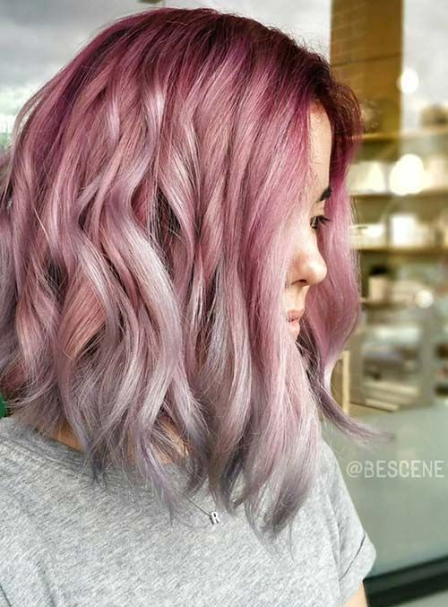 Pastel and Neon Hair Colors in Balayage and Ombre: Rose Gold Ombre Hair…