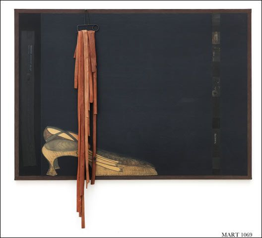 Carol Rama, Untitled (Rubbers), 1988. Rubber mounted on canvas and inner tubes, 180 x 130 cm Private collection on loan to MART, Museo di Arte Moderna e Contemporanea di Trento e Rovereto, inv. 236. Courtesy of Salvatore Ferragamo 9/26