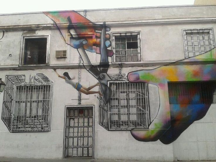 street art by diana guido in madrid, spain