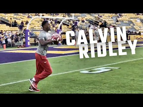 How Calvin Ridley looks warming up for LSU game