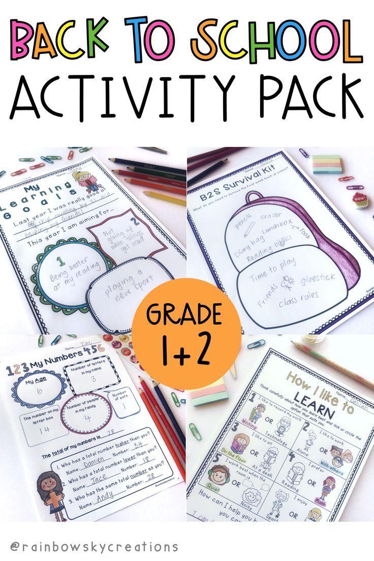 Back To School Activities Pack 1 To 2 Paper Australia No Prep School Activities Back To School Activities Activity Pack [ 1103 x 736 Pixel ]