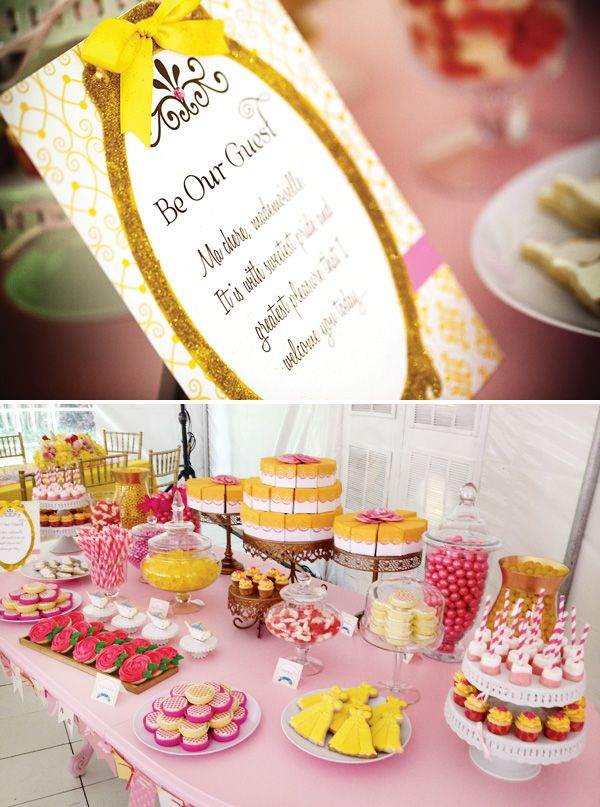 1000 images about beauty and the beast party on pinterest for Table 52 dessert
