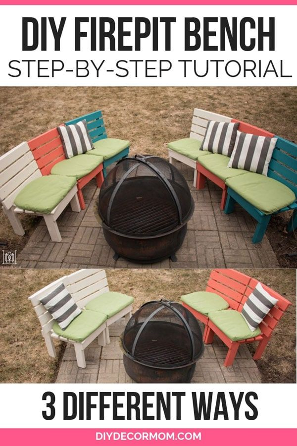 See The Easy Way To Make A Curved Fire Pit Bench That Provides Tons Of Extra And Flexible Seating With Backs All For Under Fire Pit Bench Fire Pit Diy Fire
