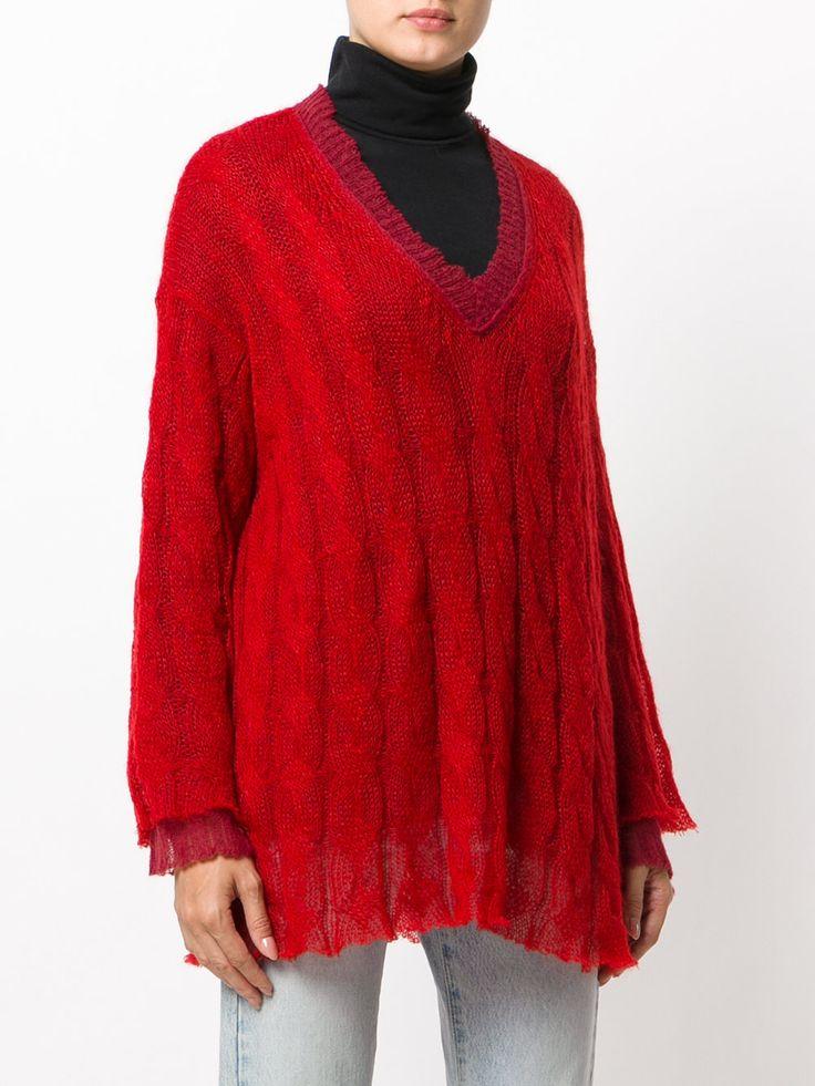 Maison Margiela свитер с вышивкой