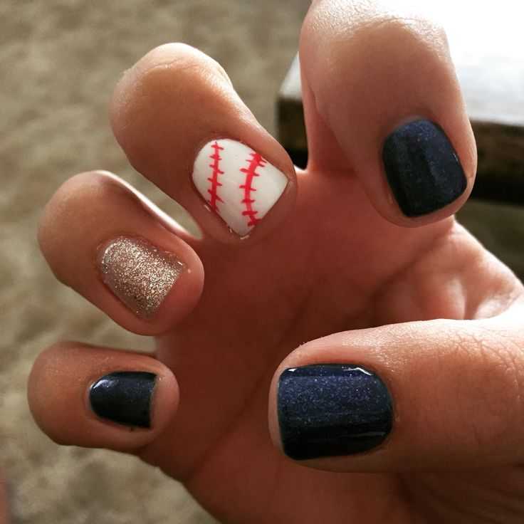 25 beautiful baseball nail designs ideas on pinterest softball baseball nails baseball nail artbaseball toesbaseball prinsesfo Images