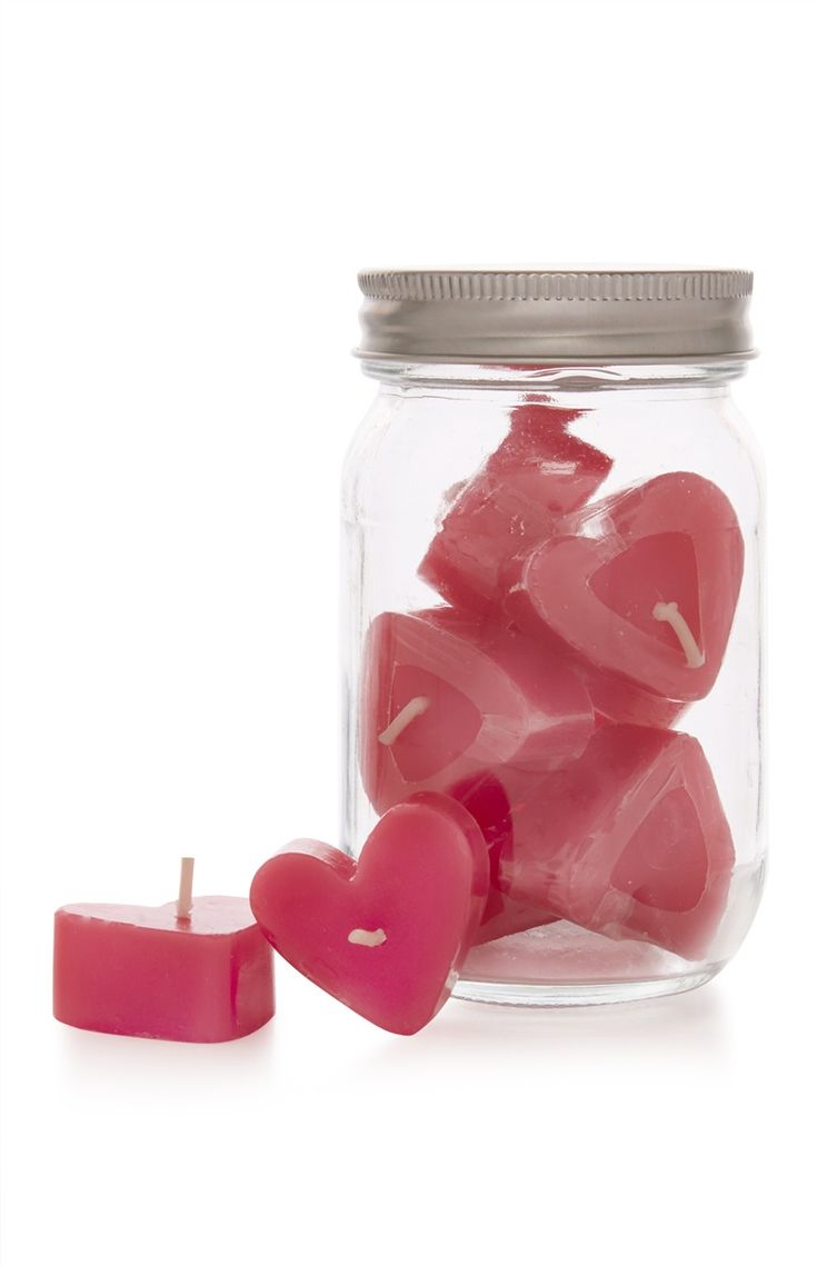 Primark - Roze kaarsen in hartvorm, 10 stuks