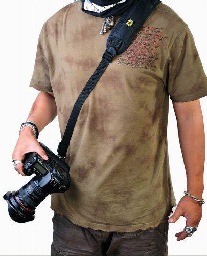 Black Quick Neck Shoulder Strap for Canon Nikon Olympus Pentax Panasonic Sony Camera