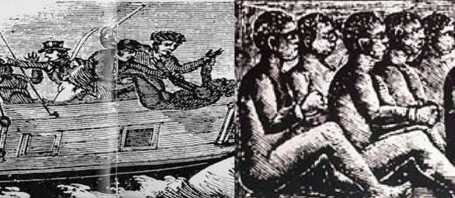 29 novembre 1781 ♦ Le capitaine négrier Collingwood noie 122 esclaves pour toucher l'assurance-décès.