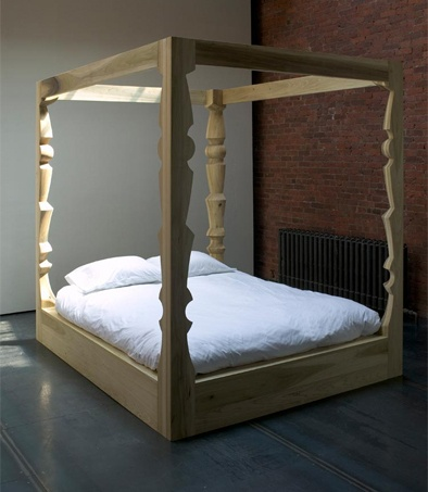 Carved canopy canopy beds pinterest more canopy dream rooms and bedrooms ideas - Poster bed canopy ideas ...