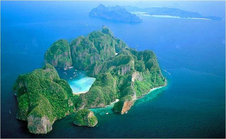 Phi Phi Islands, Thailand.. ♥  ariel view