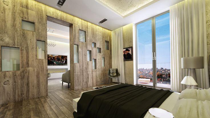 Luxury apartment renovation- master bedroom design, Budapest, Hungary