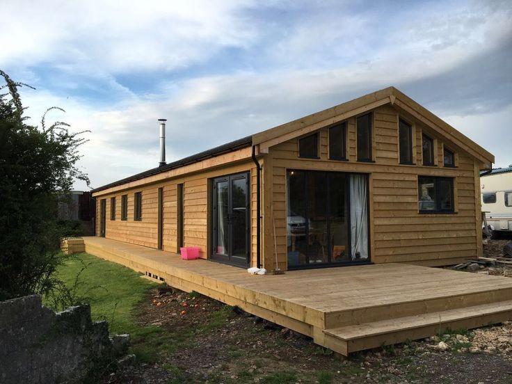 60ft X 20ft 4bed Log Cabin Lodge Timber Frame Holiday Park Home Static Caravan