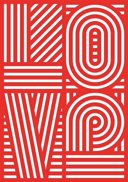 graphic design, poster, typography, red