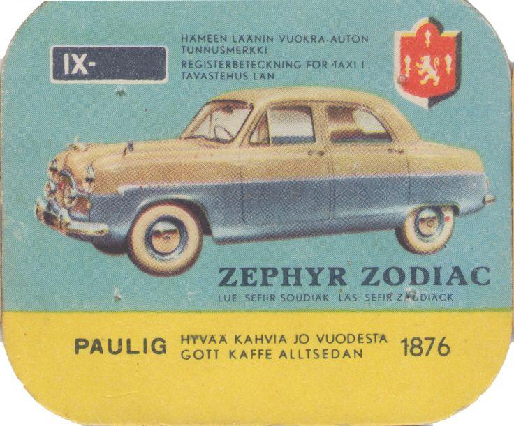 En nostalgitripp fram till jul med hjälp av Pauligs bilkort från mitten av 1900-talet. Zephyr Zodiac #cars #vintage