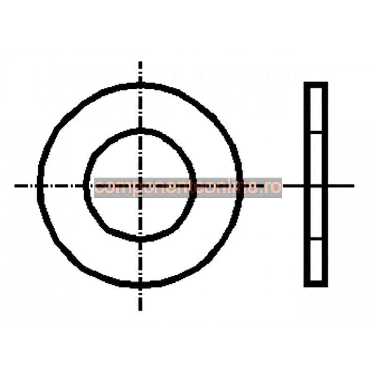 Saiba rotunda, 3,2x6mm, otel zincat, Bossard - 007248