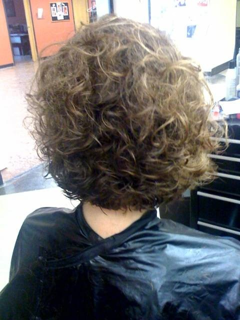short stacked curly