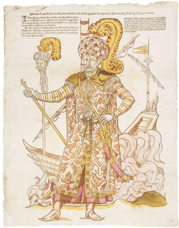 Ali Pascha, Befehlshaber der osmanischen Flotte bei der Schlacht von Lepanto Osmanisches Reich – Wikipedia