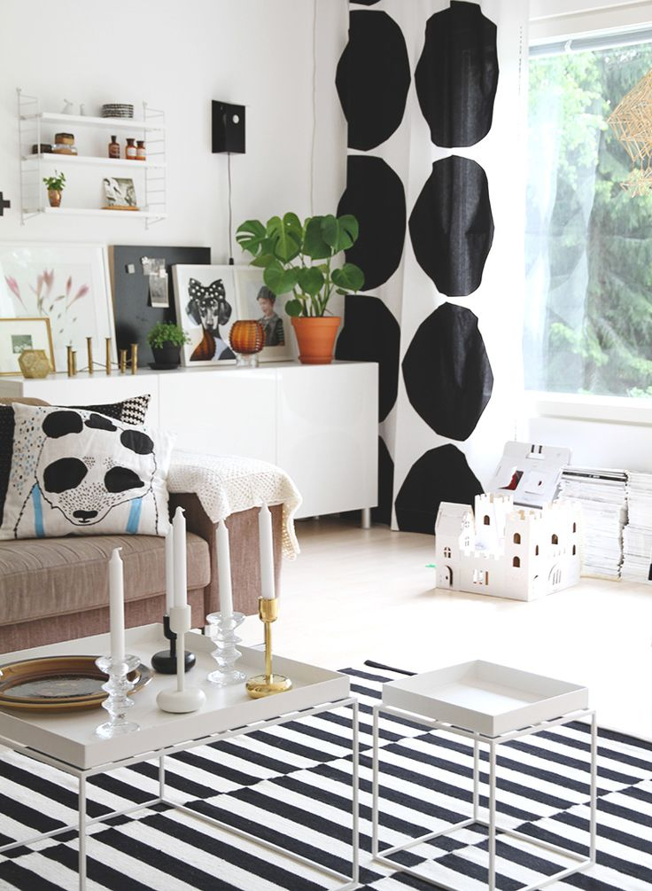 Nice use of Marimekko. From the blog Hunajaista.