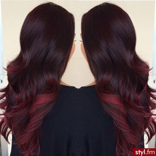 Long Dark Brown Hair - Red Tips | Long Gorgeous Hair ...