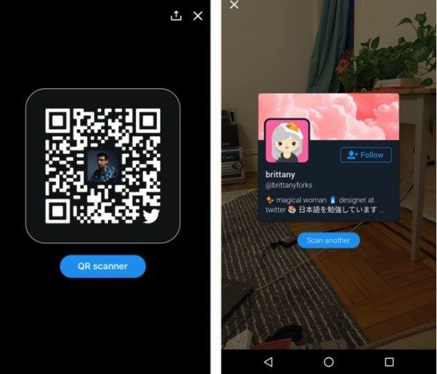 Su Twitter arrivano i codici QR per condividere i contatti