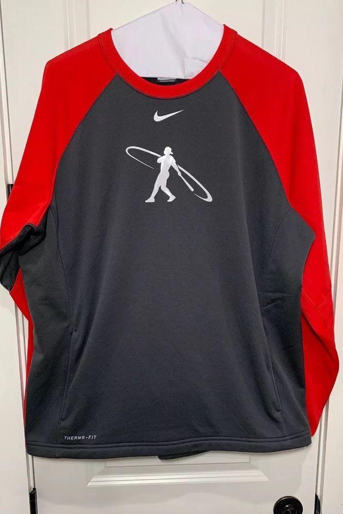 4fcfeb4c2ae Mens Red/Gray Nike Swingman Baseball Sweatshirt XXL 2XL Therma-Fit #fashion  #clothing #shoes #accessories #mensclothing #activewear (ebay link)
