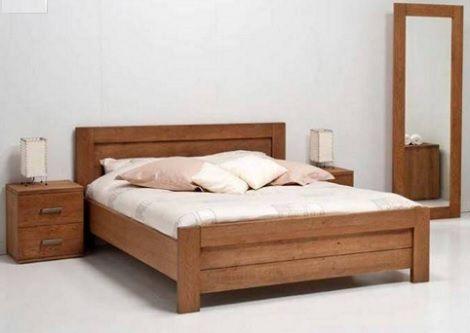van Houdt Rovigo,bed,massief hout ledikant,passpiegel www.theobot.nl