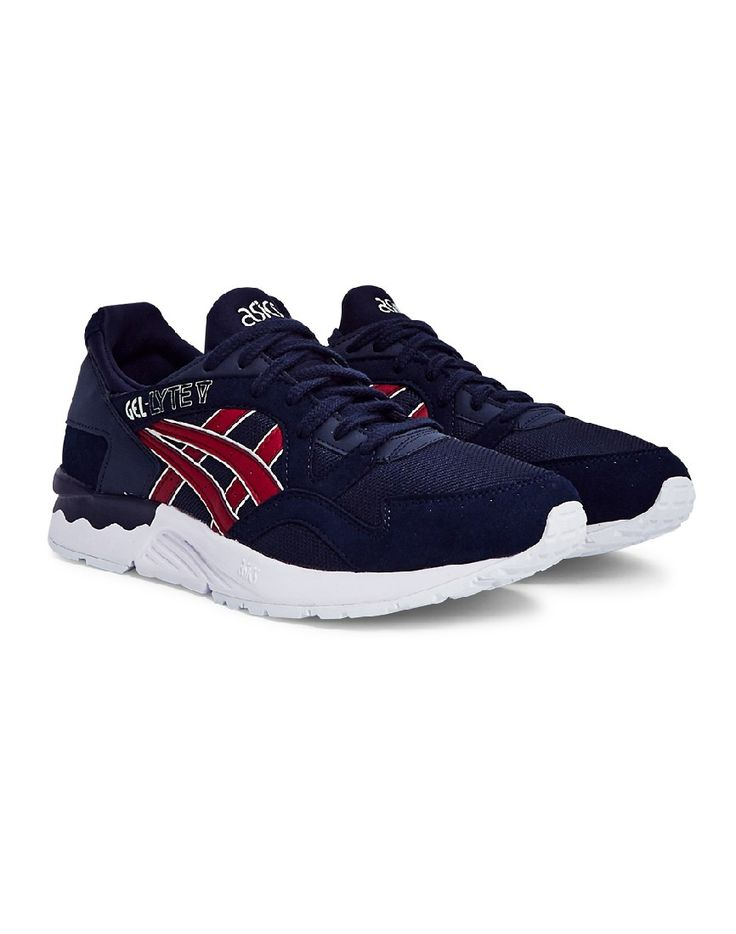 Navy and Red Asics | Shop all men's trainers at The Idle Man | #StyleMadeEasy