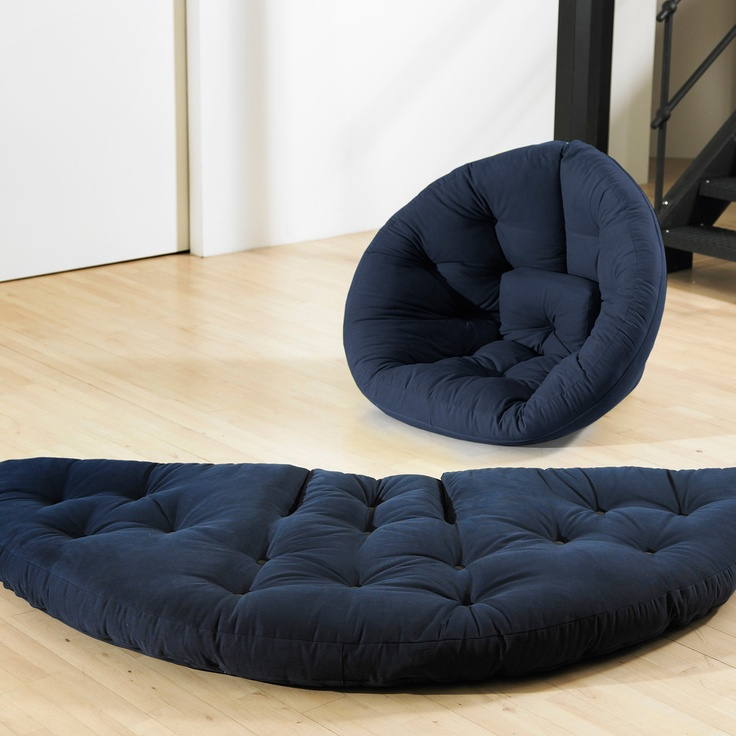 "Nest Futon 84"" Navy  by Fresh Futon"