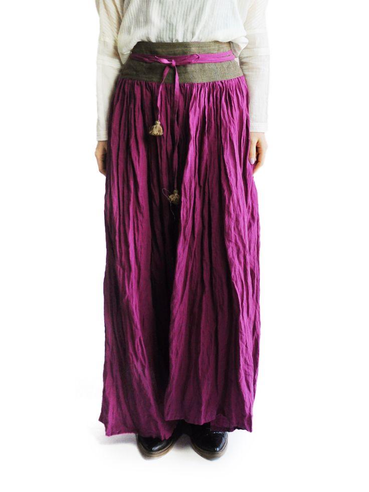 水金地火木土天冥海 |Tabrik |カラーリネンラップスカート|スカート|4-plum|Shops|公式通販 アッシュ・ペー・フランスモール