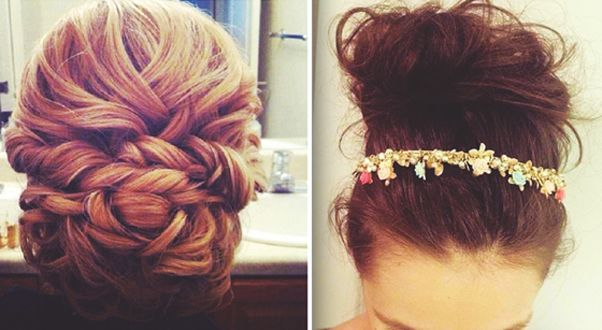 Lovely buns for your Quinceanera hairstyle!