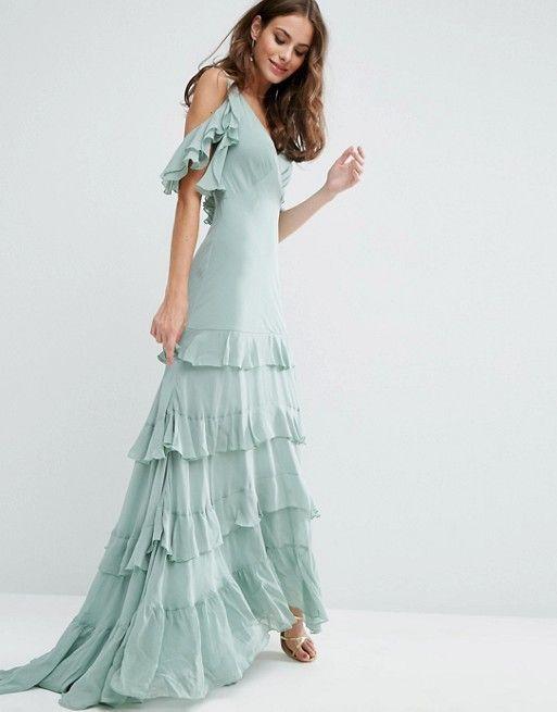 ASOS Ruffle Tiered Maxi Dress
