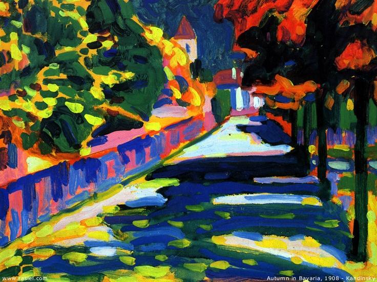 kandinsky - 1908 autumn in bavaria (pompidou, paris ...