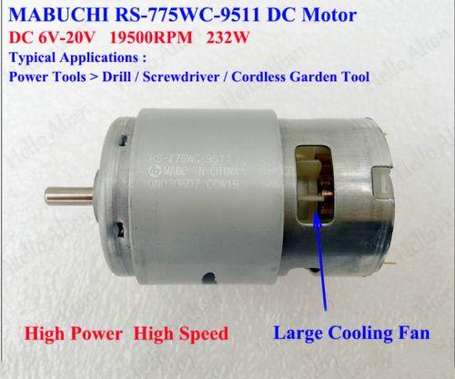 Mabuchi-RS-775WC-9511-DC-6V-20V-12V-18V-High-Speed-Electric-Drill-Tools-Motor